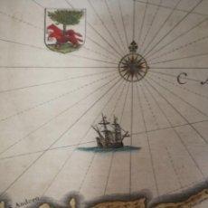 Arte: JANSSONIUS,1636.VIZCAYA ET GUIPUZCOA CANTABRIA VETERIS.BILBAO,SANTANDER,LOGROÑO,VITORIA,SANSEBASTIÁN. Lote 144475214