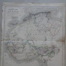 Arte: GRAN MAPA DEL NORTE Y OCCIDENTE DE ÁFRICA, 1828. BRUÉ. Lote 144565140