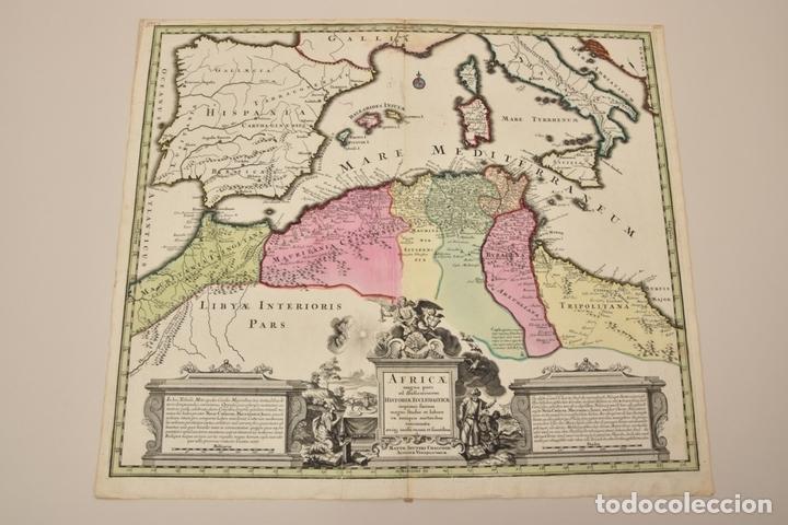 GRAN MAPA DE ÁFRICA DEL NORTE Y MAR MEDITERRANEO (EUROPA), 1720. SEUTTER (Arte - Cartografía Antigua (hasta S. XIX))