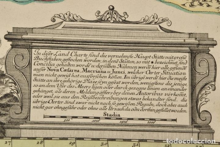 Arte: Gran mapa de África del norte y mar Mediterraneo (Europa), 1720. Seutter - Foto 6 - 144565908