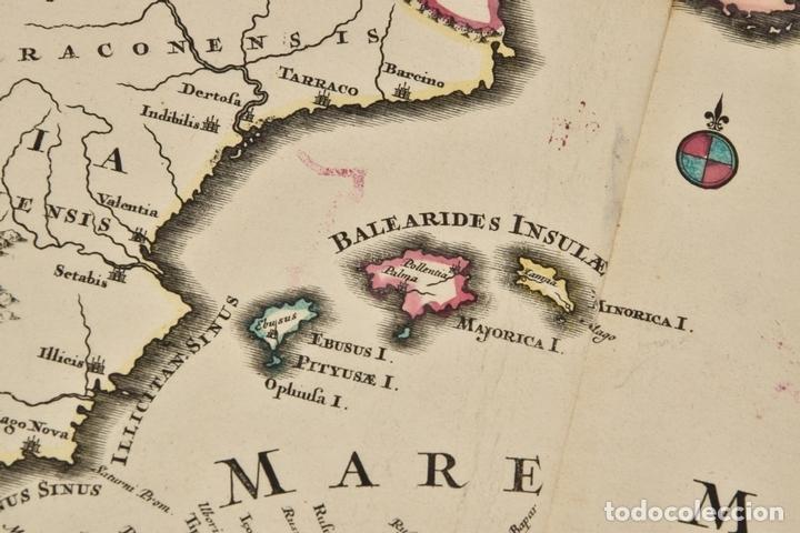 Arte: Gran mapa de África del norte y mar Mediterraneo (Europa), 1720. Seutter - Foto 9 - 144565908