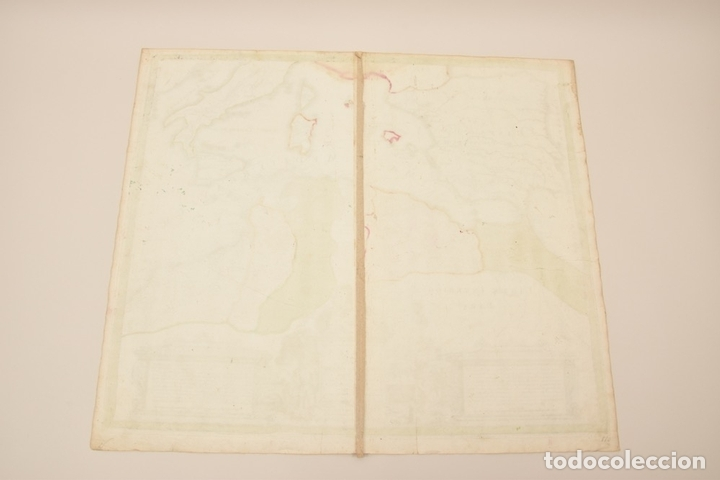 Arte: Gran mapa de África del norte y mar Mediterraneo (Europa), 1720. Seutter - Foto 11 - 144565908