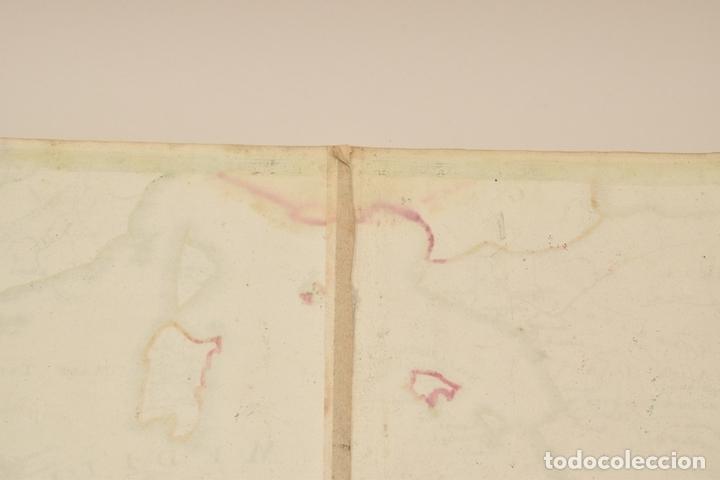 Arte: Gran mapa de África del norte y mar Mediterraneo (Europa), 1720. Seutter - Foto 12 - 144565908