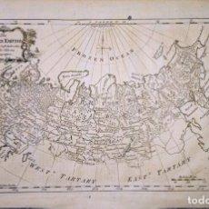 Arte: MAPA ANTIGUO RUSIA AÑO 1747 CON CERTIFICADO DE AUTENTICIDAD. MAPAS ANTIGUOS RUSIA. Lote 144595410
