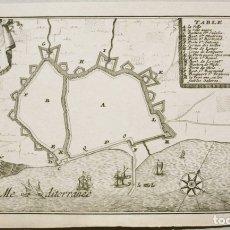 Arte: PLANO DE LA CIUDAD DE BARCELONA (CATALUÑA, ESPAÑA), 1678. PONTEULT DE BEAULIEU. Lote 144916136