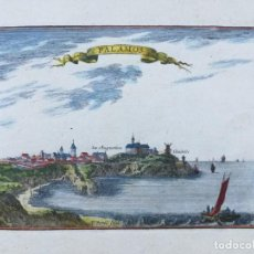 Arte: GRABADO DE PALAMOS - BEAULIEU - AÑO 1707 - ES ORIGINAL. Lote 144931622