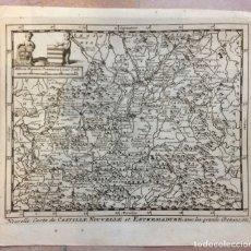 Arte: MAPA DE EXTREMADURA Y CASTILLA (ESPAÑA), 1715. P. VAN DER AA.. Lote 145047744