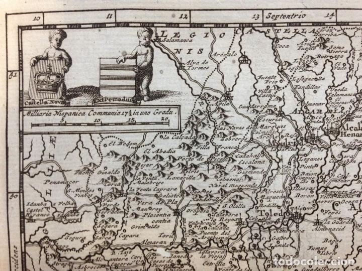 Arte: Mapa de Extremadura y Castilla (España), 1715. P. Van der Aa. - Foto 2 - 145047744