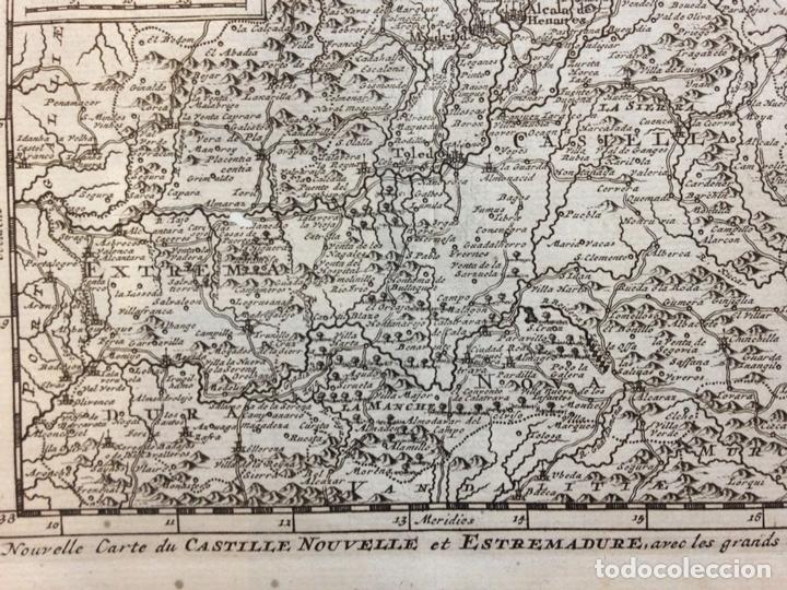 Arte: Mapa de Extremadura y Castilla (España), 1715. P. Van der Aa. - Foto 3 - 145047744