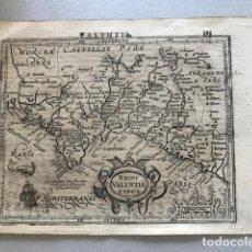 Arte: MAPA DEL ANTIGUO REINO DE VALENCIA (ESPAÑA), 1607. MERCATOR/HONDIUS. Lote 145162853