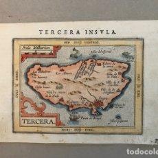 Arte: MAPA DE LA ISLA TERCEIRA (ISLAS AZORES, PORTUGAL), 1604. ORTELIUS/HULSIUS. Lote 145189724