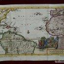 Arte: MAPA DE AMÉRICA, OCÉANO ATLÁNTICO, EUROPA Y AFRICA, CA. 1700. PETER VAN DER AA. Lote 145334826
