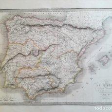 Arte: MAPA DE ESPAÑA Y PORTUGAL - EPOCA ROMANA - M. LAPIE - AÑO 1831. Lote 145361886