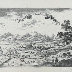 Arte: GRABADO DE VALLS - TARRAGONA - BEAULIEU - AÑO 1707 - ES ORIGINAL. Lote 145385506