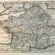Arte: MAPA DE FRANCIA ANTIGUA, 1683. CLUVER/KAERIUS. Lote 145681585