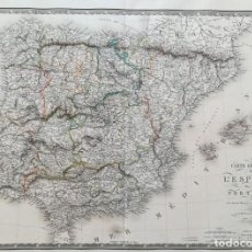 Arte: MAPA DE ESPAÑA Y PORTUGAL - A. BRUE - AÑO 1821 - ES ORIGINAL. Lote 178376245