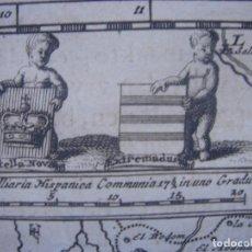 Arte: MAPA DE EXTREMADURA, CASTILLA LA NUEVA , ORIGINAL, VAN DER AA, 1707, ESPLÉNDIDO ESTADO. Lote 146405402