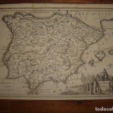 Arte: ESPLÉNDIDO MAPA DE ESPAÑA ANTIGUA, ORIGINAL, LONDRES, 1747, BOWEN , PERFECTO. Lote 146525322