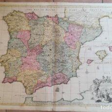 Arte: MAPA DE ESPAÑA Y PORTUGAL - SENEX - AÑO 1730 - GRAN FORMATO. Lote 146529566