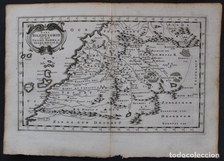 MAPA DEL NOROESTE DE ÁFRICA E ISLAS CANARIAS (ESPAÑA), 1656. SANSON (Arte - Cartografía Antigua (hasta S. XIX))