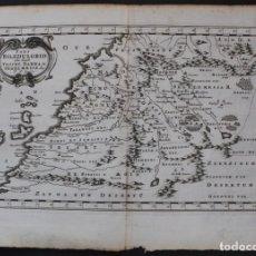 Arte: MAPA DEL NOROESTE DE ÁFRICA E ISLAS CANARIAS (ESPAÑA), 1656. SANSON. Lote 146772721