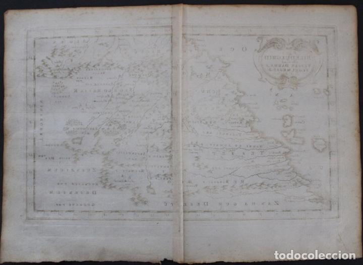 Arte: Mapa del noroeste de África e Islas Canarias (España), 1656. Sanson - Foto 6 - 146772721