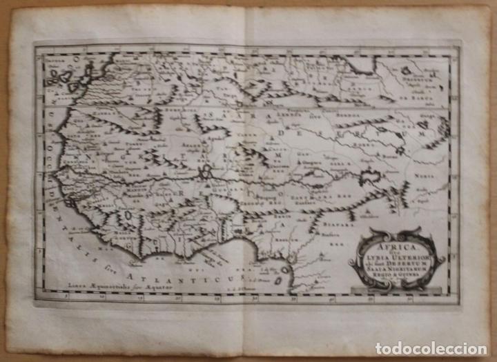 MAPA DEL OCCIDENTE DE ÁFRICA E ISLAS CANARIAS (ESPAÑA), 1656. SANSON (Arte - Cartografía Antigua (hasta S. XIX))