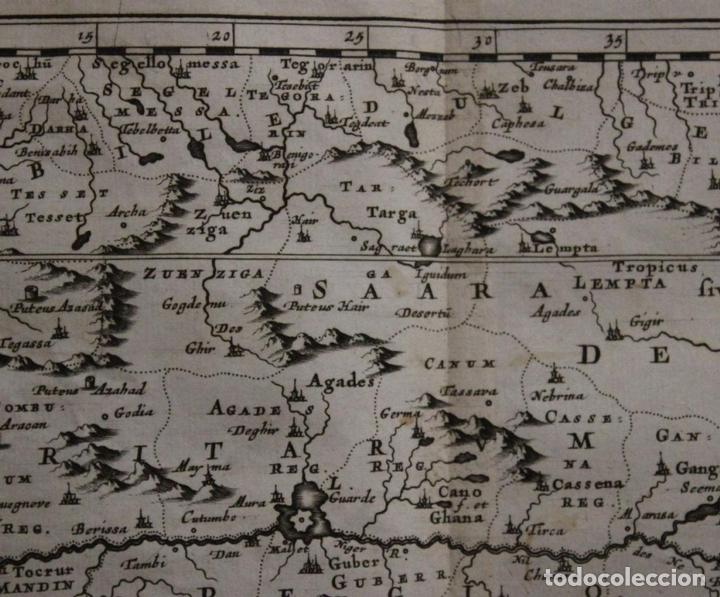 Arte: Mapa del occidente de África e Islas Canarias (España), 1656. Sanson - Foto 4 - 146776745