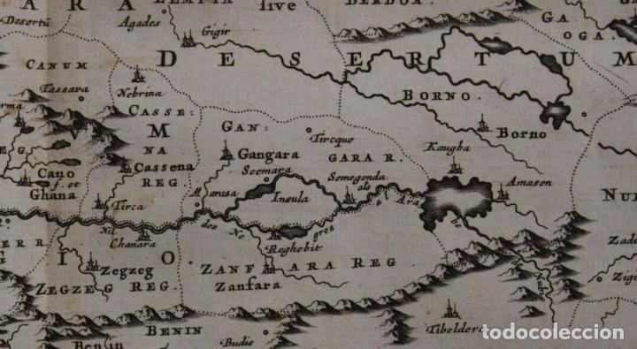 Arte: Mapa del occidente de África e Islas Canarias (España), 1656. Sanson - Foto 8 - 146776745