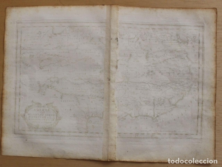 Arte: Mapa del occidente de África e Islas Canarias (España), 1656. Sanson - Foto 10 - 146776745