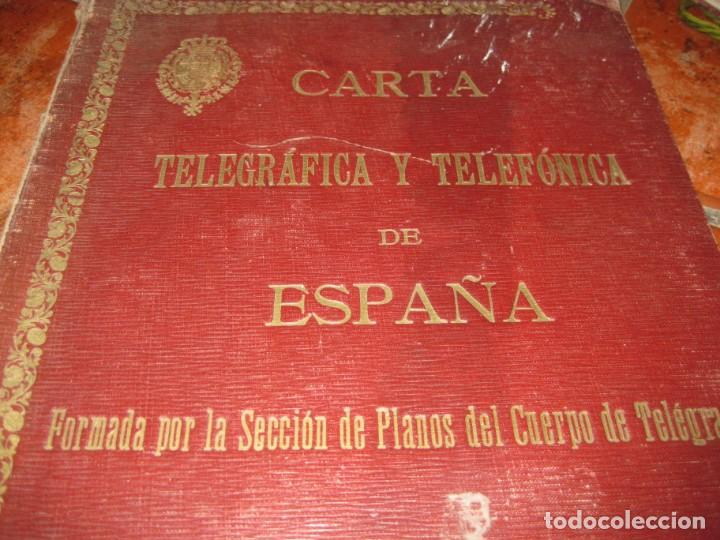 Arte: LIBRO CARTA TELEGRAFICA Y TELEFONICA DE ESPAÑA .PLANOS Y MAPAS año 1923 - Foto 2 - 219020198