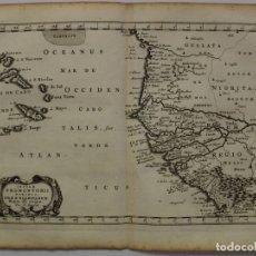 Arte: MAPA DE ÁFRICA OCCIDENTAL E ISLAS DE CABO VERDE, 1656, NICOLAS SANSON. Lote 147046262