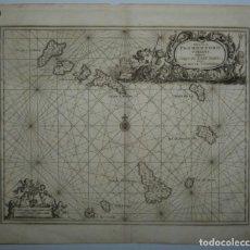 Arte: CARTA NÁUTICA DE LAS ISLAS DE CABO VERDE (ÁFRICA OCCIDENTAL), 1671. OGILBY/DAPPER. Lote 147079210