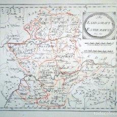 Arte: GRABADO EN PLANCHA DE COBRE DEL MAPA DE EXTREMADURA CARTOGRAFO JOSEPH VON REILLY (1766-1820). Lote 147138402