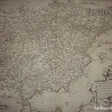 Arte - Mapa grabado de la Península Ibérica. 1572. Abraham Ortelius. Regni Hispaniae post omnium.... - 147215458