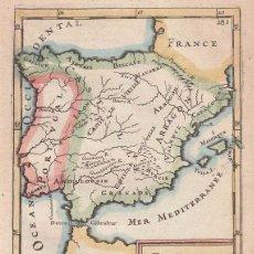 Arte: MAPA DE ESPAÑA Y PORTUGAL, 1683. MALLET. Lote 147217928