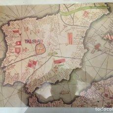 Arte: FRAGMENTO DE UN MAPA DE LA EUROPA OCCIDENTAL ATRIBUIDO A ABRAHAM CRESQUES 1375. Lote 147420882