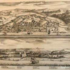 Arte: GRANDES VISTAS DE LA CIUDAD Y PUERTO DE SALVADOR DE BAHIA (BRASIL), 1700. CHURCHILL. Lote 147445486
