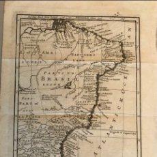 Arte: MAPA DE BRASIL OCCIDENTAL (AMÉRICA DEL SUR), 1711. H. MOLL. Lote 147455530