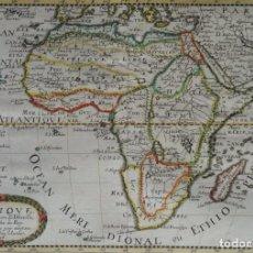 Arte: ÁFRICA, MAPA POR N. SANSON D´ABBEVILLE, 1656, AFRIQUE……. Lote 147569058