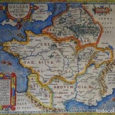 Arte: FRANCIA, MAPA POR ABRAHAM ORTELIUS, 1590, GALLIA VETUS... Lote 147611730