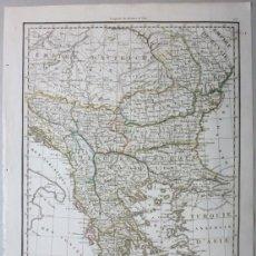Arte: MAPA DE GRECIA, RUMANIA Y BULGARIA, 1816 (EUROPA). A.E. LAPIE. Lote 147683036