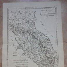 Arte: MAPA DE LA TOSCANA (ITALIA), 1780. BONNE/HORLERON/ANDRE. Lote 147692061