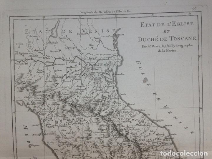 La Toscana Italia Mapa.Mapa De La Toscana Italia 1780 Bonne Horleron Andre