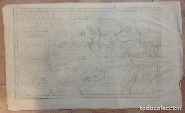 Arte: Mapa de las conquistas de Alejandro Magno (Europa, África y Asia), ca. 1770. Delisle - Foto 4 - 147921408