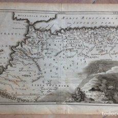Arte: MAPA DEL NOROESTE DE ÁFRICA E ISLAS CANARIAS (ESPAÑA), 1731. CELLARIUS. Lote 147932758