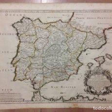 Arte: GRAN MAPA DE ESPAÑA Y PORTUGAL, 1677. ROSSI/CANTELLI/WIDMAN. Lote 148200476