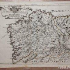 Arte: GRAN MAPA DE GALICIA Y ASTURIAS (ESPAÑA), 1696. ROSSI/CANTELLI/BARBEY. Lote 148203053