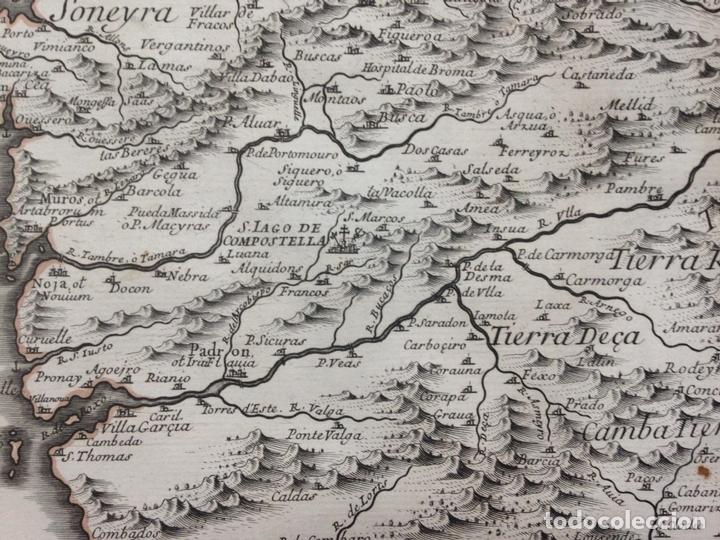 Arte: Gran mapa de Galicia y Asturias (España), 1696. Rossi/Cantelli/Barbey - Foto 2 - 148203053