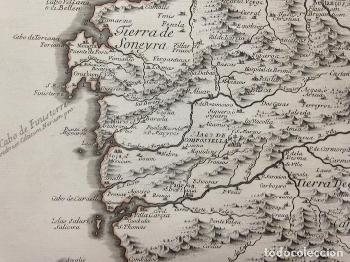 Arte: Gran mapa de Galicia y Asturias (España), 1696. Rossi/Cantelli/Barbey - Foto 4 - 148203053